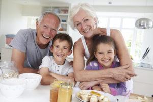 Grandparents during visitation with grandchildren